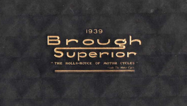1939 Brough Superior Catalogue