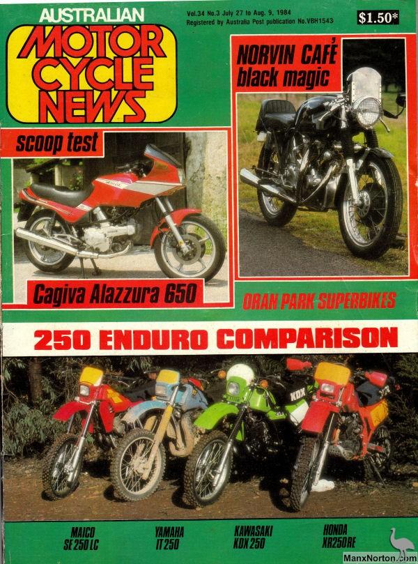 Australian Motorcycle News Magazine 1984
