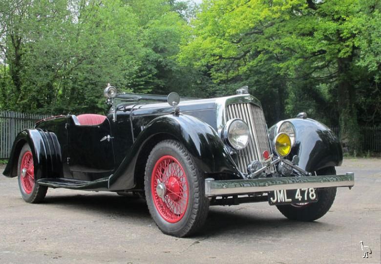 1937 aston martin 2 litre 15/98 four-seater