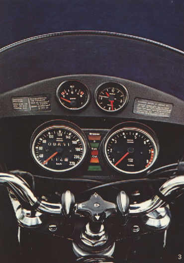 Bmw R90s Cockpit Illustration
