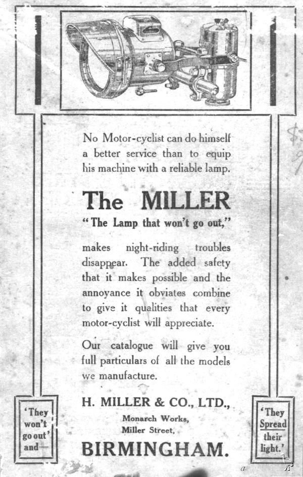 miller lamps 1920