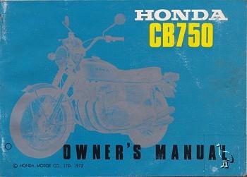 Honda Owners Manual >> CB750 K2 Owners Manual