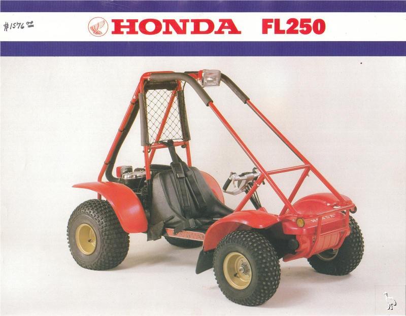 Honda FL250 1981 Sales Brochure – Honda Odysy 250 Atv Wiring Diagram