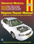 Chevrolet Malibu/Oldsmobile Alero and Cutlass/Pontiac Grand Am Automotive Repair Manual