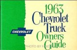 1963 Chevrolet Pickup and Truck Reprint Owner s Manual