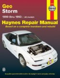 Geo Storm Automotive Repair Manual 1990 thru 1993
