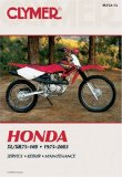 Honda Xl Xr75-100, 1975-2003 (Clymer Motorcycle Repair)