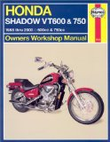 Honda Vt600 and Vt750 Shadow V-Twins Owners Workshop Manual: 1988-2003