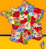 Michelin Local Map, No. 329: Correze, Dordogne, Perigueux, Tulle (France) and Surrounding Area, Scale 1:150,000