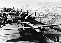 B25 Mitchels on the deck of the USS Hornet